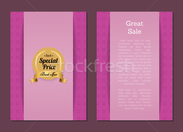 Great Sale Special Price Best Offer Hot Gold Label Stock photo © robuart