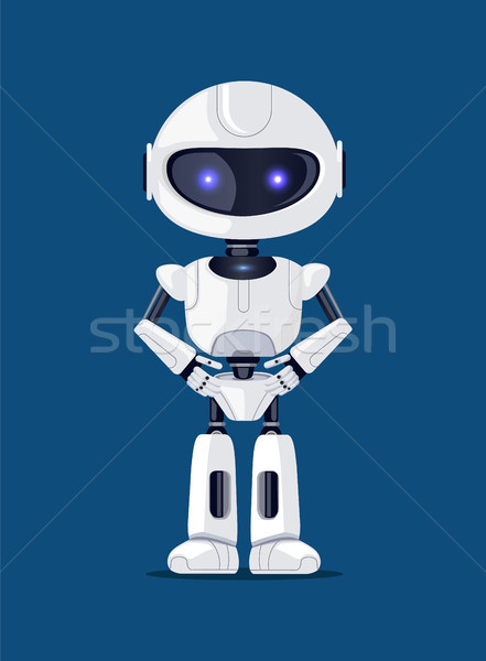 Robot of White Color Poster Vector Illustration Stock photo © robuart