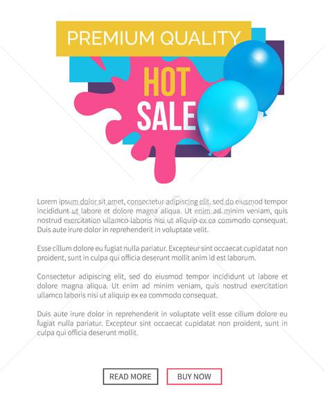 Prêmio qualidade venda quente preço promo Foto stock © robuart