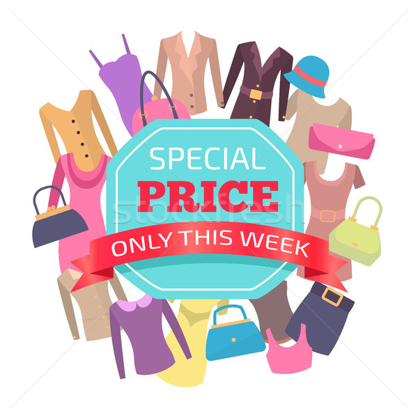 Special Price for All Clothes Only This Week Promo Stock photo © robuart