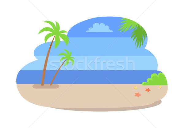 Summer Background Empty Beach Vector Coastline Stock photo © robuart