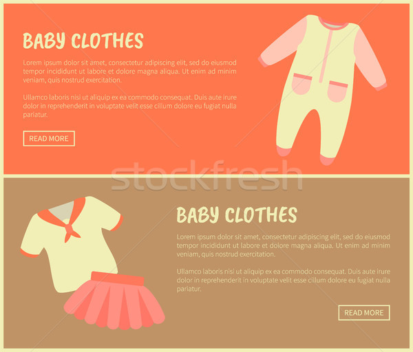 Baby Clothes Set of Sites Vector Illustration Stock photo © robuart