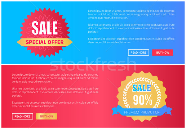 Special Offer Premium Promotion Sale Round Labels Stock photo © robuart