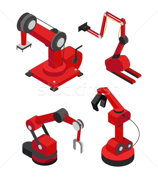 Industrial Robots Set for Efficient Production Stock photo © robuart
