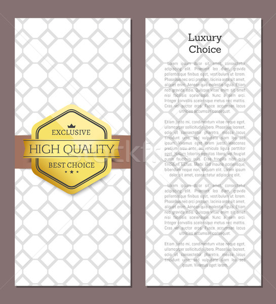 Luxury Choice Golden Offer Premium Quality Label Stock photo © robuart