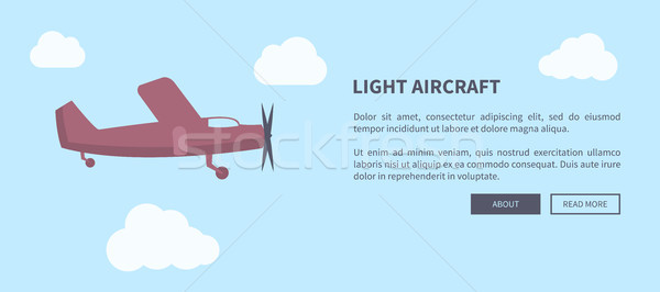 Light Aircraft Closeup of Airplane in Color Banner Stock photo © robuart