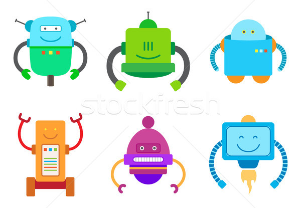 Bot Creatures Collection, Vector Illustration Stock photo © robuart