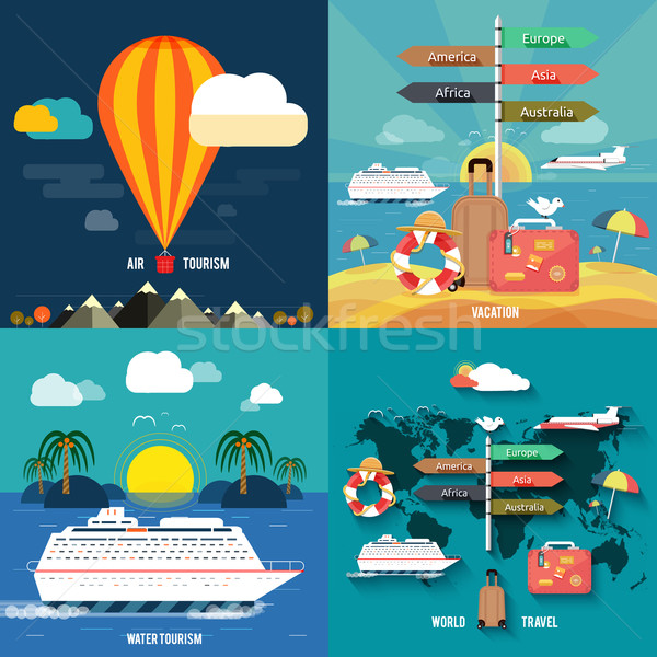 Сток-фото: планирования · Летние · каникулы · туризма · путешествия