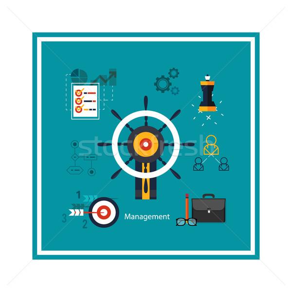 アイコン 管理 ビジネス ツール 異なる コンピュータ ストックフォト © robuart