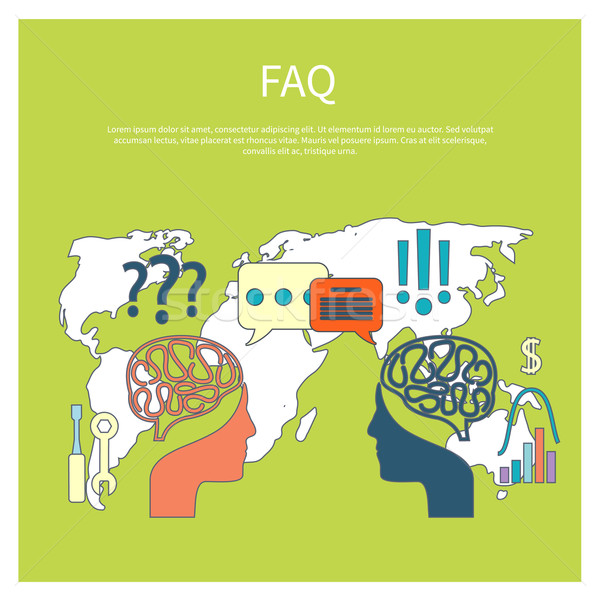 FAQ information sign icon Stock photo © robuart