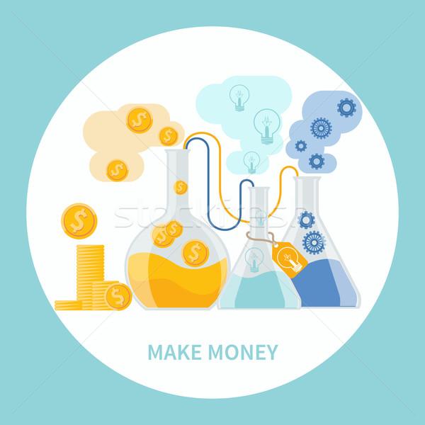 Para iş simya deney fikirler Stok fotoğraf © robuart