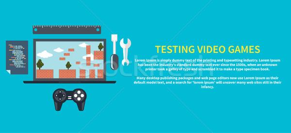Testing video games Stock photo © robuart