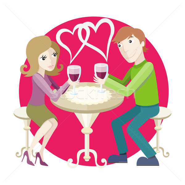 Date at restaurant Stock photo © robuart