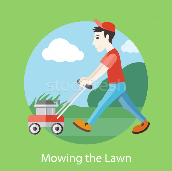 Mowing the Lawn Stock photo © robuart