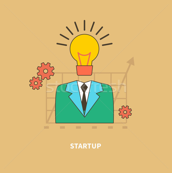 Idee begin startup business procede man Stockfoto © robuart
