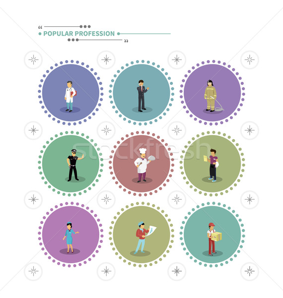 Set of Characters Popular Professions Stock photo © robuart