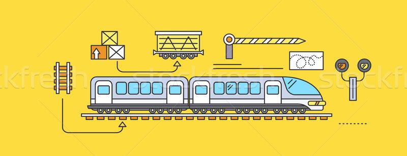 Concept of Freight Forwarding Rail Stock photo © robuart