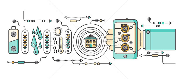 Concept of Smart Home and Control Device Stock photo © robuart