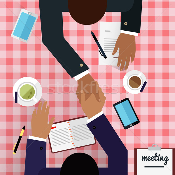 Work Space Meeting Design Flat Stock photo © robuart