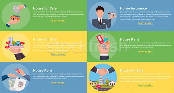 家 家賃 販売 保険 不動産 ブローカー ストックフォト © robuart