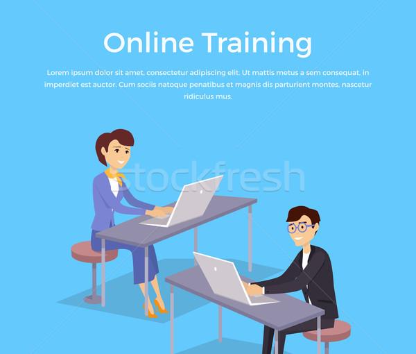 Online Training Banner Design Concept Stock photo © robuart