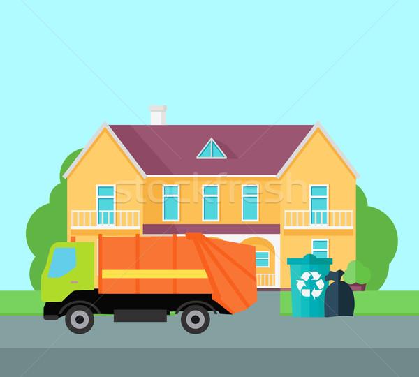 Limpeza lixo cidade ruas vetor projeto Foto stock © robuart