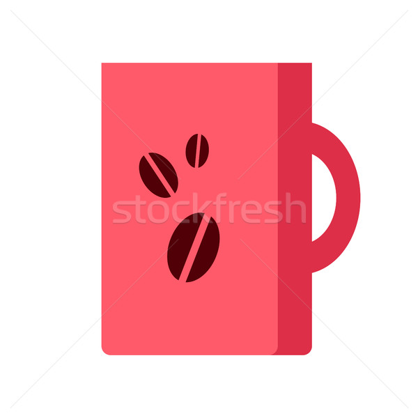 Red Coffee Cup Isolated. Hot Strong Beverage. Stock photo © robuart