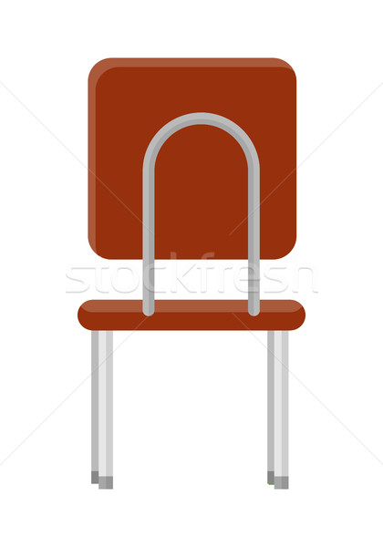 Chair in Retro Style Icon. Back View Stock photo © robuart