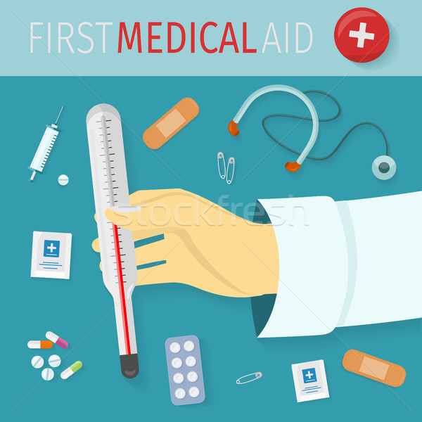 First Medical Aid Vector Concept in Flat Design   Stock photo © robuart