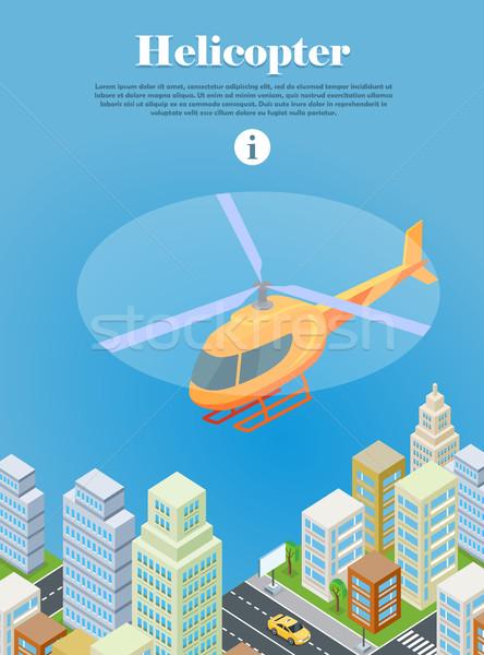Helikopter vliegen stedelijke stad type vliegen Stockfoto © robuart
