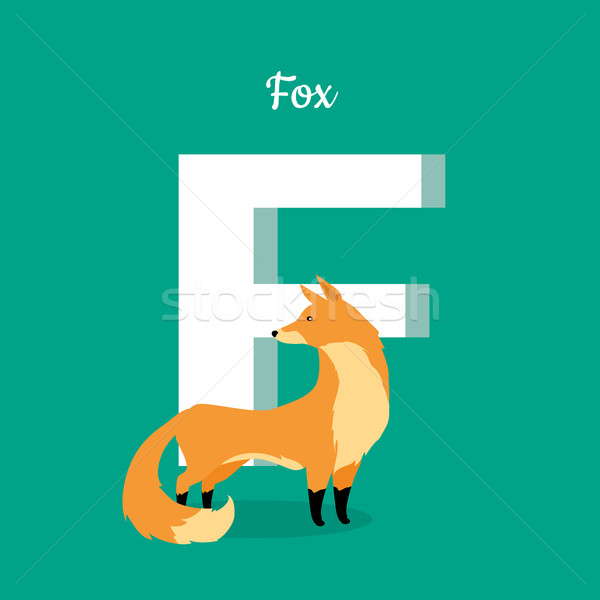 Animal Alphabet Concept in Flat Design Stock photo © robuart