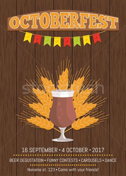 Promóciós poszter sör üveg szöveg izolált Stock fotó © robuart