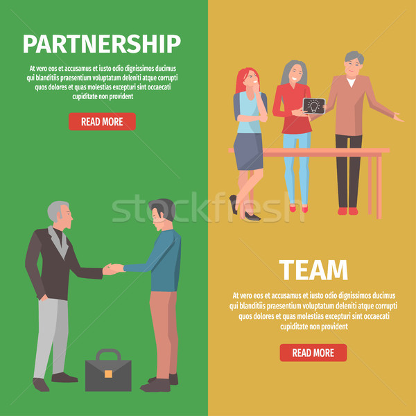 Team and Partnership as Components of Startup Stock photo © robuart