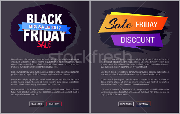 Black Friday Big Sale 2017 Promo Web Posters Info Stock photo © robuart