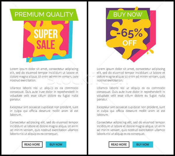 Premium Quality Super Sale Buy Now Web Pages Set Stock photo © robuart