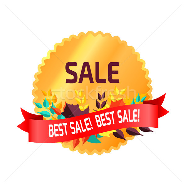Best Sale Circular Sticker on Vector Illustration Stock photo © robuart