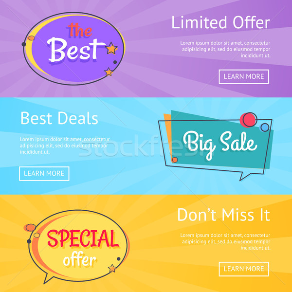 Limited Offer Best Deals Big Sale Set Web Posters Stock photo © robuart
