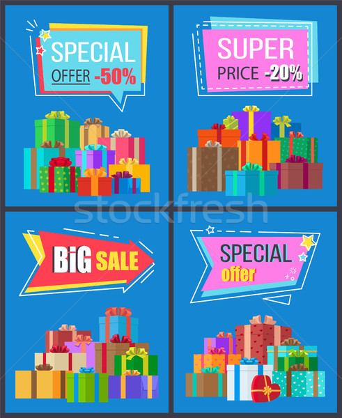 Special Offer Half Price Super Discounts Adverts Stock photo © robuart