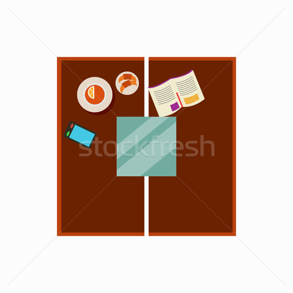 Coffee Table Design Icon Vector Illustration Stock photo © robuart