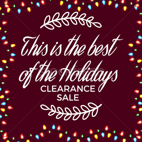 Clearance Sale Festive Poster Vector Illustration Stock photo © robuart