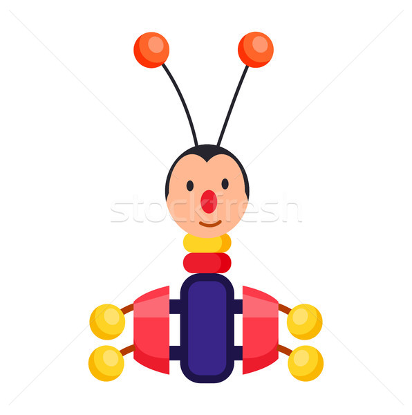 Child Xylophone in Form of Beetle Illustration Stock photo © robuart