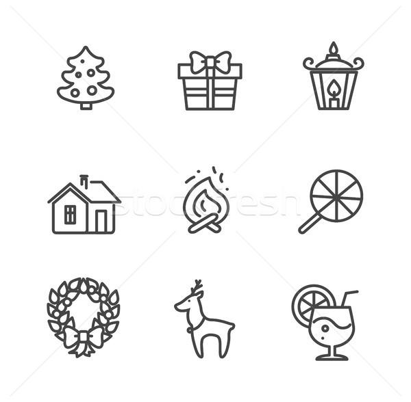 Set of Icons Isolated on White Vector Illustration Stock photo © robuart