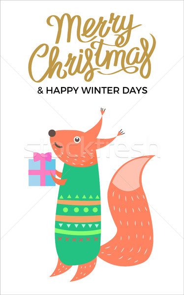 Merry Christmas and Winter Vector Illustration Stock photo © robuart