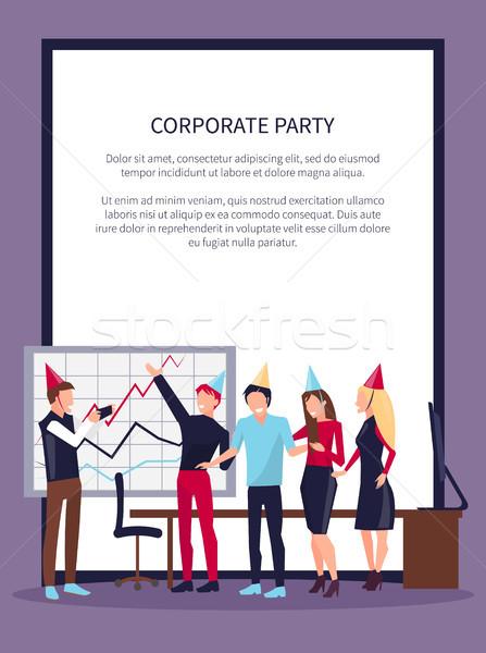 Corporate Party Celebrating Vector Illustration Stock photo © robuart