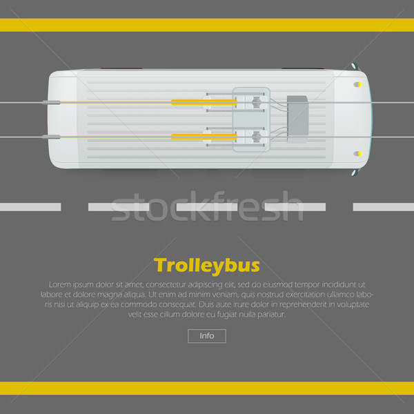 Trolleybus on Road Conceptual Flat Vector Web Banner Stock photo © robuart
