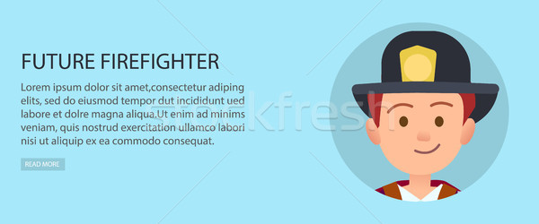 Little Future Firefighter in Uniform Illustration Stock photo © robuart