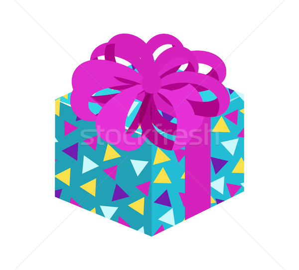 Present with Posh Bow Pattern Vector Illustration Stock photo © robuart