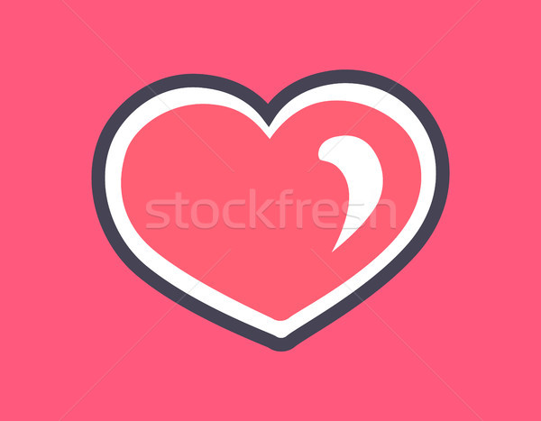 Sparking Pink Heart Cats Day Vector Illustration Stock photo © robuart