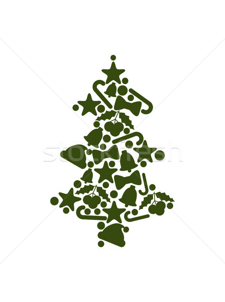 Tree Made of Symbolic Icons on Vector Illustration Stock photo © robuart