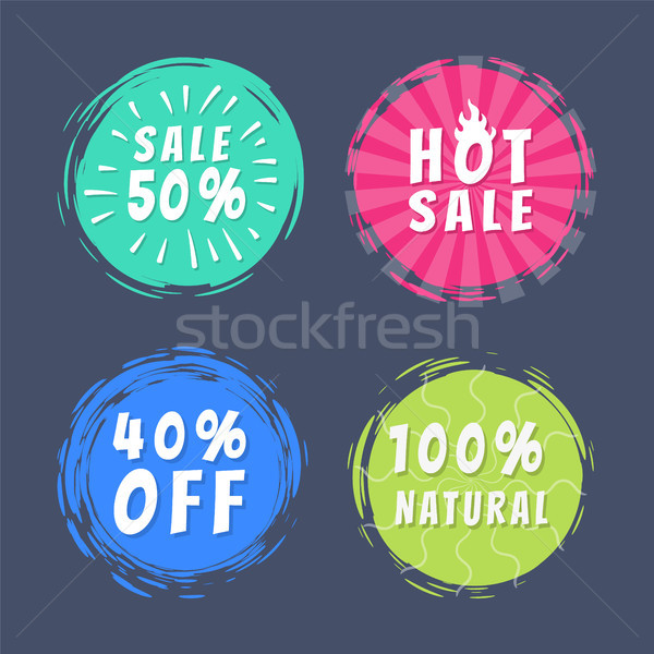 Sale 50 Best Choice Special Offer Promo Stickers Stock photo © robuart